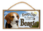 Every Day is Better with a Beagle (Blue Sky Theme) Art by S. Rogers