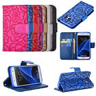 Flower Magnetic Flip PU Leather Wallet Card Holder Stand Case Cover For Phones