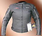 RK TWIN BLACK LEATHER LADIES WOMENS SHORT SUMMER MOTORCYCLE MOTORBIKE JACKET