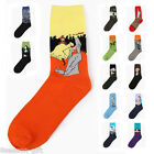 Gift New Fashion Vintage Art Abstract Painting Men Cotton Socks Free Size