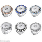 LOVE 1PC Silver Tone Snap Ring Fit DIY Button Fashion Jewelry US 7