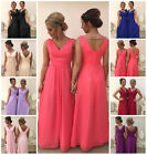 New Long Chiffon Bridesmaid Dress Wedding Evening Party Prom Ballgown Pippa 8-26
