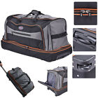 "30"" Drop Bottom Rolling Wheeled Duffel Bag Carry On Luggage Travel Suitcase"