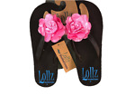 Arch Support Flower Accent Flip Flops Sandals Womens Pink Black Brown 6 7 8 9 10