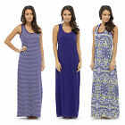 Womens Maxi Dress Casual Summer Holiday Fashion Sleeveless Long Boho Stretch Fit