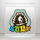Sticker Decals Surf Shark Car Motorbike Bike polymeric vinyl Garage mtv X3948