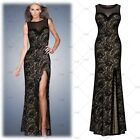 Ladies Long Lace Floral Dress Sexy Evening Party Wedding Bridesmaids Maxi Dress
