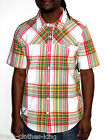 LRG Lifted Research Group Men's $56 Rasta Plaid Button Up Shirt Size Large