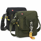 "Men's shoulder messenger bag fit for 7.9"" tablet wigh big buckle gift tactical"