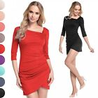 Glamour Empire. Women's Asymmetric Drape Mini Dress Longline Tunic Top. 995