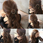 Delicate Moon Star Triangle Geometry HairPin Barrette Hollow Out Hair Clip