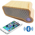 EZiMAS Bluetooth Wireless Handsfree Speaker with Woofer Wooden/Black/White
