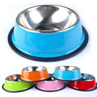 No-Slip Pet Dog Bowl Puppy Cat Food Drink Water Dish Feeders Stainless Steel