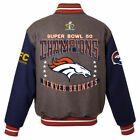 NFL Denver Broncos Super Bowl 50 Champions Wool Reversible Jacket - Collectable on eBay