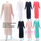 New Ladies Plain Kaftan Abaya Borkas Jilbab Burka Maxi Dress Maternity Nighties