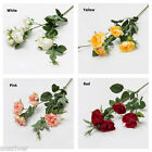 5Heads Artficial Fake Sweetheat Rose Flower Room Home Wedding Bridal Party Decor