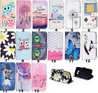 Luxury Painting Leather Folio Wallet Case Pouch For Samsung Galaxy phones 43 b