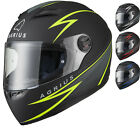 Agrius Rage Fuse Motorcycle Helmet Full Face Scooter Motorbike Crash Bike