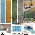45 x 200CM Mosaic Tile Foil Bathroom Kitchen Backsplash Wallpaper Wall Stickers