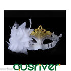 Half Lace Feather Party Mask Cosplay Costume Venetian Masquerader Ball Halloween