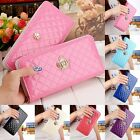 Handbag Purse Fashion Lady Women Zipper Bag Quilted Clutch Long Leather Wallet