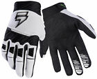 Shift Racing White/Black White Label Pro Dirt Bike Gloves MX ATV BMX MTB
