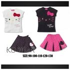 New Girls's Top And Broderie Skirt Set Hello Kitty printed  size 1yr-4yrs