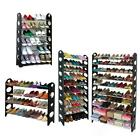 10 Tier 30 50 Pair Space Saving Storage Organizer Free Standing Shoe Tower Rack