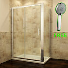 Sliding Shower Enclosure And Tray&Waste Door+Side Panel Walk  In Screen Cubicle