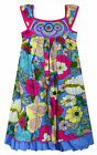 Girls Sleeveless 100% Cotton Floral Sun Dress New Kids Party Dresses 2-10 Years