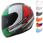 MT Thunder Tifosi Motorcycle Helmet & Visor Bike Integral Crash Lid ECE ACU Gold