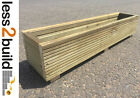 Handmade Treated Timber Wooden Decking Window Box Flower/Herb Pot Planter Garden