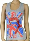 Ladies Vest Tops Skull USA Flag Design Womens Sizes s/m m/l (UK 6-8 8-10)