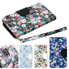 Oriental flower pattered diary wallet case for Samsung Galaxy S5 SM-G900+strap