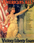 POSTER AMERICANS ALL VICTORY LIBERTY LOAN FLAG WORLD WAR VINTAGE REPRO FREE S/H $18.95 USD on eBay