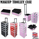 4 in1 Beauty Trolley Case Hairdressing Box Makeup Nail Storage Artist Mobile