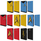 STAR TREK UNIFORMS AND BADGES TOS LEATHER BOOK CASE FOR SAMSUNG GALAXY TABLETS