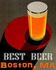 POSTER BEST BEER BOSTON MA BREWERIES PALE LAGER USA DRINK VINTAGE REPRO FREE S/H