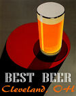 POSTER BEST BEER CLEVELAND OHIO BREWERIES PALE LAGER DRINK VINTAGE REPRO FREE SH