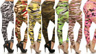 New Plus Size Womens Camo Leggings Yoga Pants O/S XL-2Xl