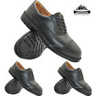 MENS EXECUTIVE BLACK LEATHER TOE-CAP MANAGER SMART WORK STEEL TOE SAFETY SHOES