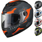 Agrius Rage Tracker Full Face Motorcycle Matt Helmet Motorbike Road Bike Scooter