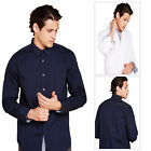 Brave Soul Ging Mens Shirt Designer Long Sleeve Polka Dot Collared Button Up Top