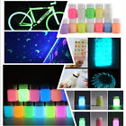 12Color Glow in Dark Pigment Graffiti Acrylic Luminous Bright  DIY Paint Party