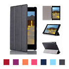 Thin Multi-Angle Stand Tri-Fold PU Leather Case For Fire HD 8 2015 Case