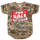 Mom Dad funny saying baby tee shirt infant one piece body suit army digital camo