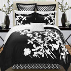 Iris Black & White 7 Piece Comforter Bed In A Bag Set