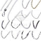 45 Style 1pcs Women's Girls Fashion Silver Chain Necklace Jewelry New Wholesale