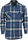 Quiksilver Fitzthrower Long Sleeve Flannel Shirt (Saphire Blue)