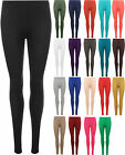 New Womens Plain Full Length Long Ankle Ladies Stretch Leggings Pants